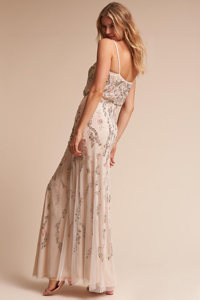 Adrianna Papell Ivory Multi Tribute Dress | BHLDN