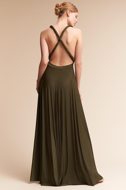 twobirds Olive Ginger Convertible Maxi Dress | BHLDN