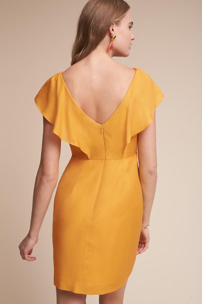Jenny Yoo Mustard Gabby Dress | BHLDN