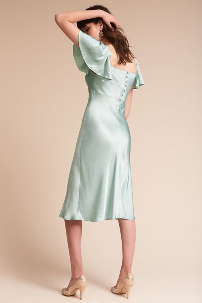 Ghost London Dusty Green Giselle Dress | BHLDN