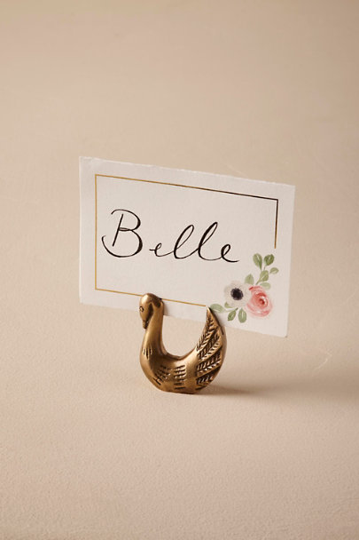 Bronze Swan Card Holder | BHLDN