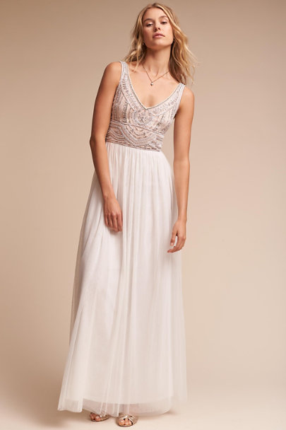 BHLDN Ivory Sterling Dress | BHLDN