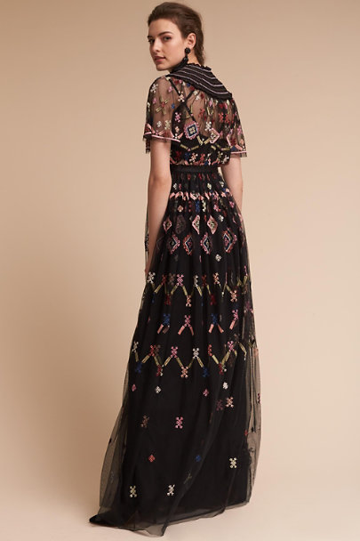 Needle & Thread Black/Multi Florentine Dress | BHLDN