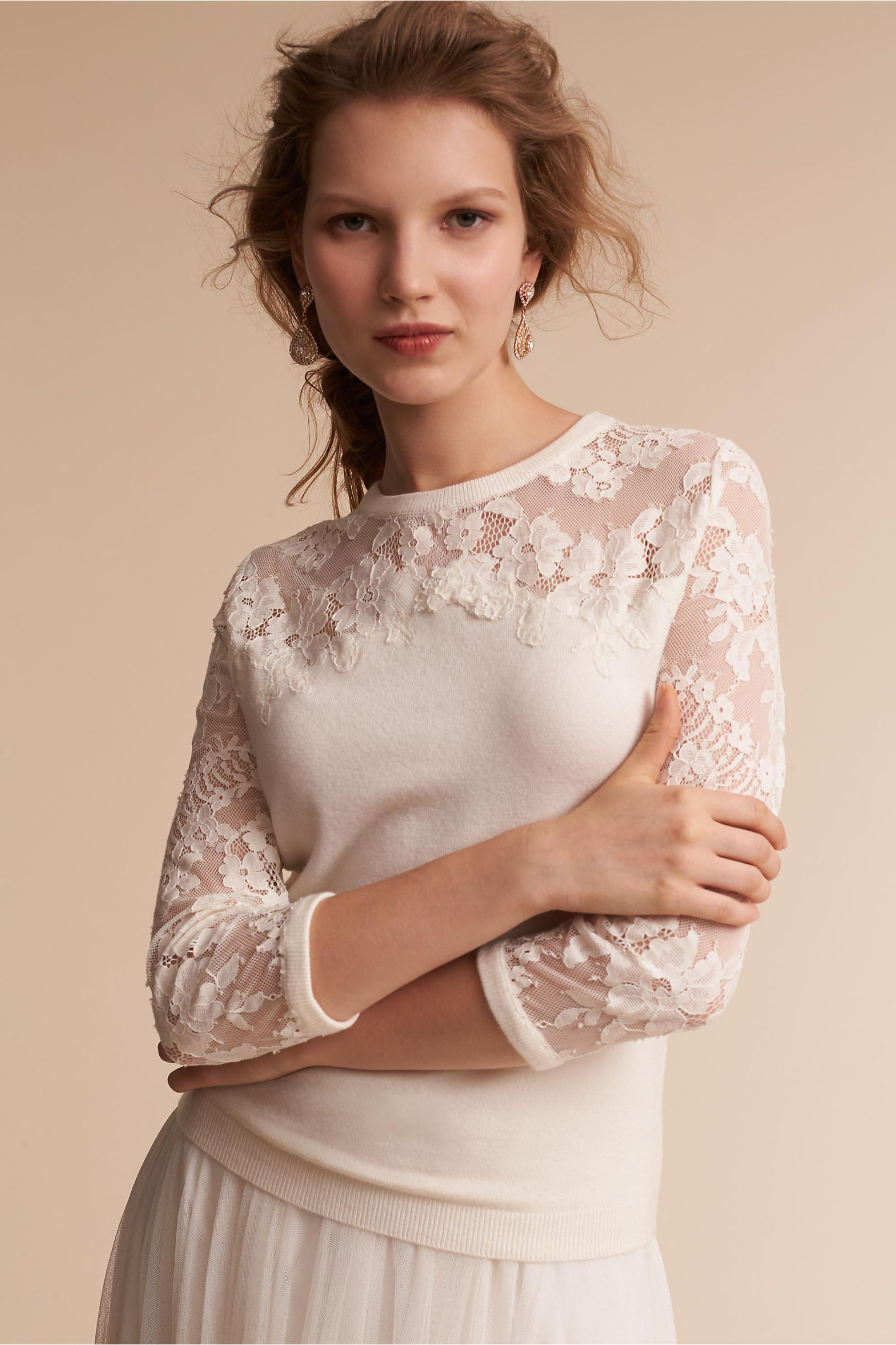 Cambridge Cashmere Sweater Ivory in Sale | BHLDN