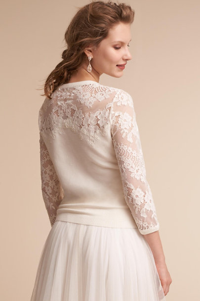 Jenny Yoo Ivory Cambridge Cashmere Sweater | BHLDN