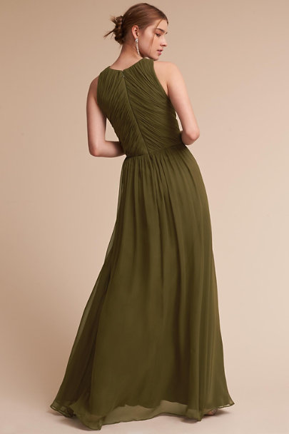 BHLDN Olive Aurelie Dress | BHLDN
