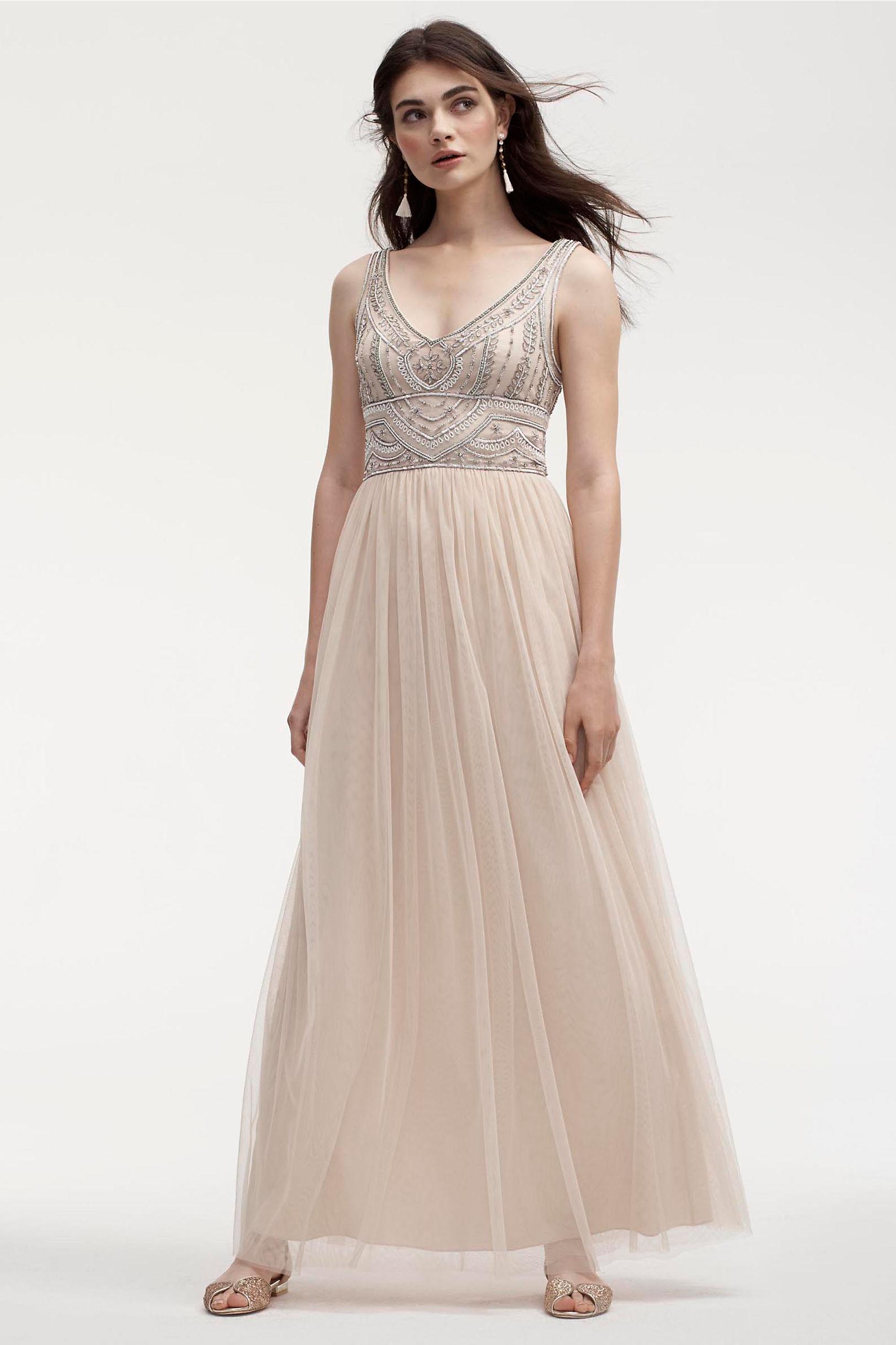 Bhldn Oyster Sterling Dress
