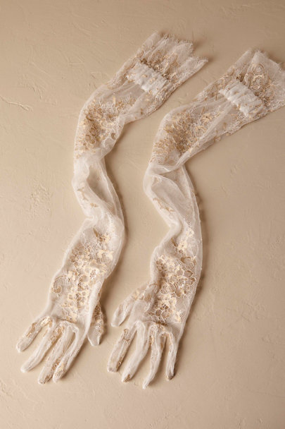 1920s Accessories | Great Gatsby Accessories Guide Adalia Lace Gloves $100.00 AT vintagedancer.com
