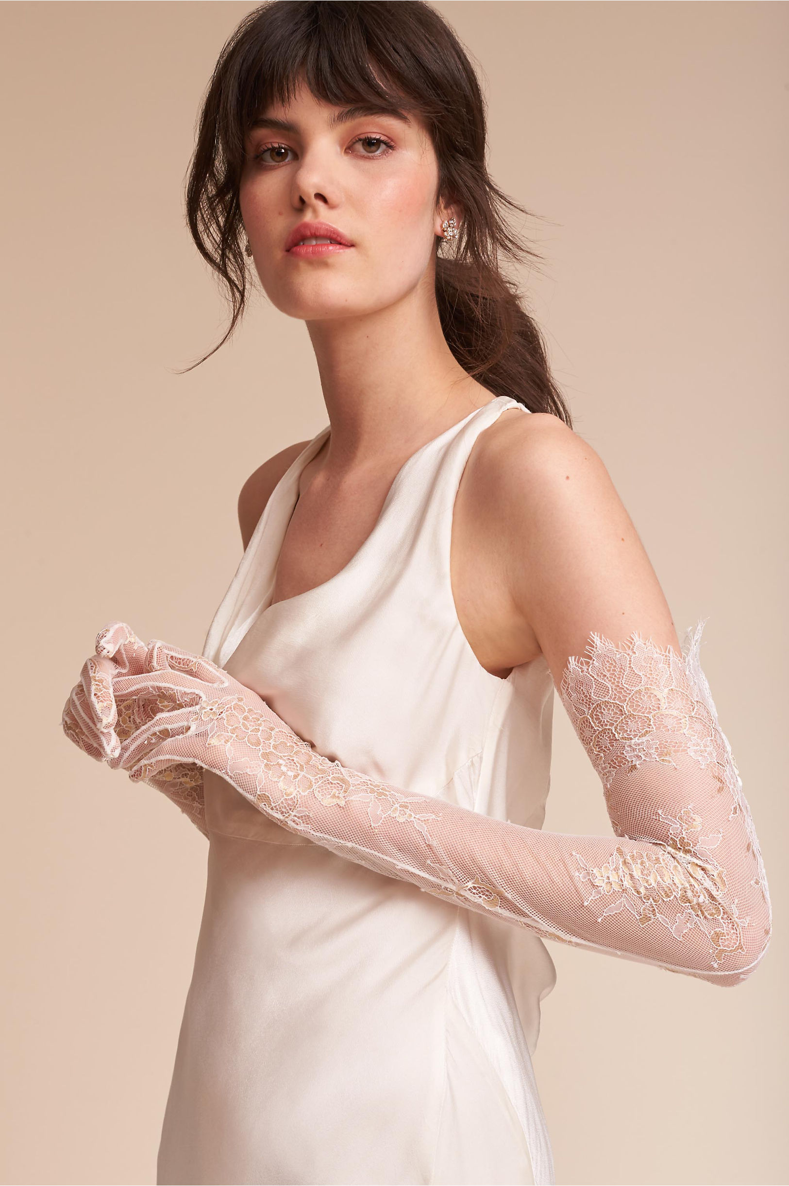 Vintage Inspired Wedding Dress | Vintage Style Wedding Dresses Adalia Lace Gloves $100.00 AT vintagedancer.com