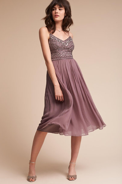 Dusty Plum Bristol Dress | BHLDN