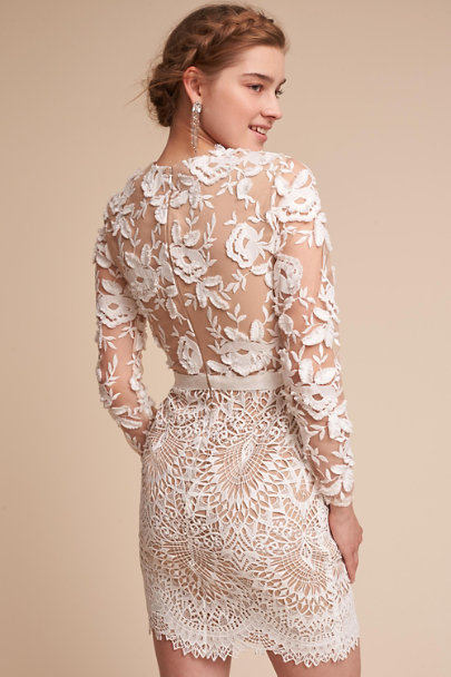 ML Monique Lhuillier Ivory Tiana Dress | BHLDN