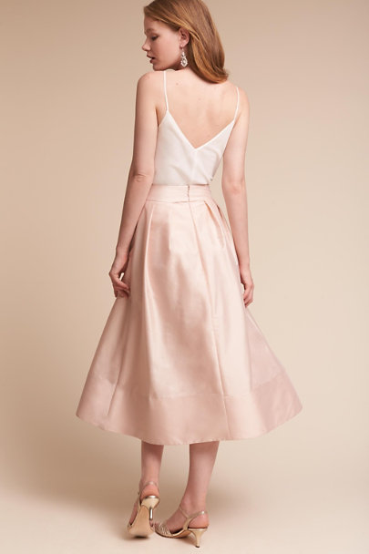 ML Monique Lhuillier Blush Rockport Skirt  | BHLDN