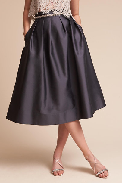 Monique Lhuillier Bridesmaids Graphite Rockport Skirt  | BHLDN