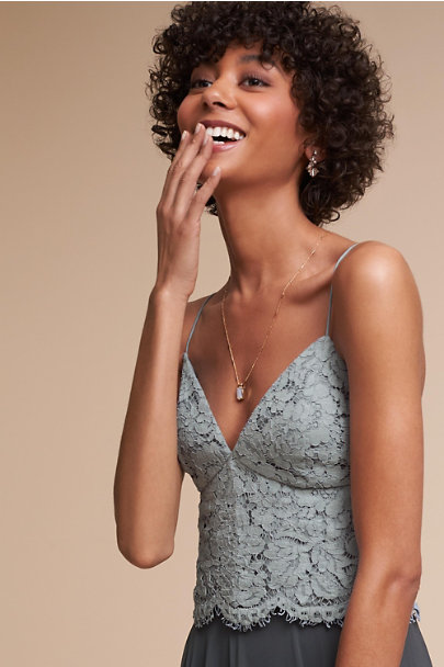 Jenny Yoo Steel Blue Pippa Camisole Top | BHLDN