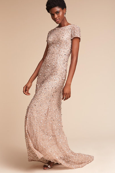 56e40366984 Adrianna Papell Champagne Lucent Dress
