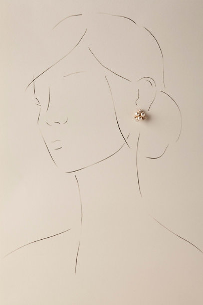 Gold Pax Pearl Stud Earrings | BHLDN