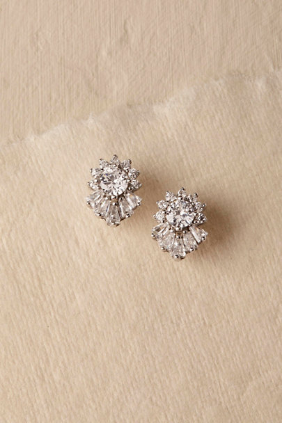 Jardin Silver Lexie Stud Earrings | BHLDN