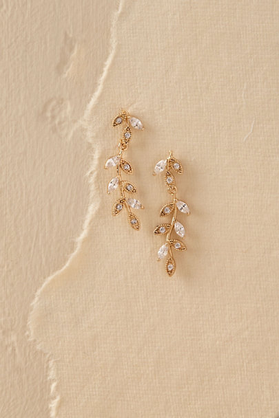 Kenneth Jay Lane Gold Verona Earrings | BHLDN
