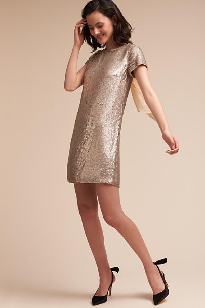 BHLDN Platinum Glitz Dress | BHLDN