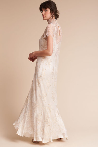 Amoralle Ivory Exalted Overdress | BHLDN