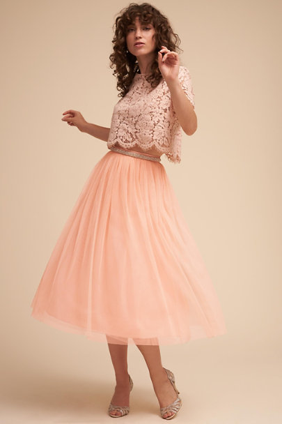 BHLDN Peach Leena Skirt | BHLDN
