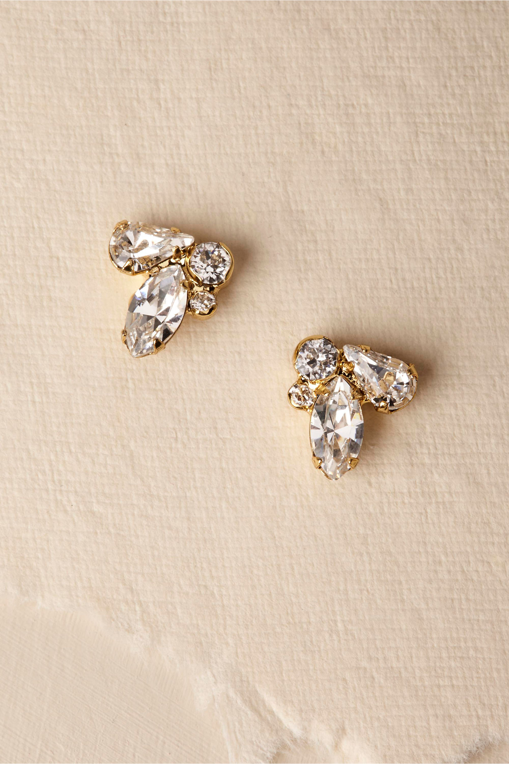 white gg gucci running earrings diamond gold stud jewellery