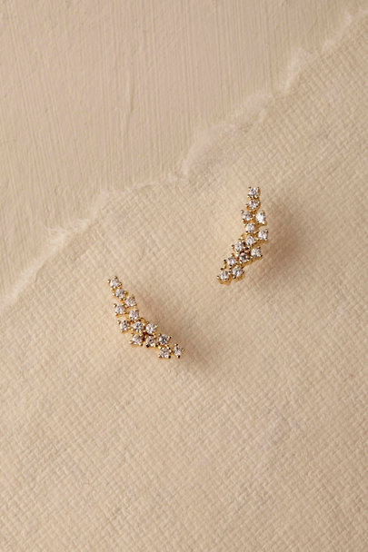 Gold Sonya Crystal Stud Earrings | BHLDN