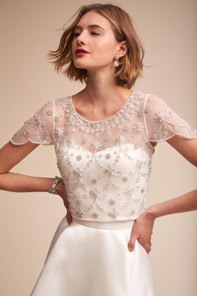 Moyna Ivory Elianne Top | BHLDN