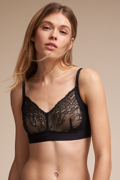 Black SPANX Lace Bralette | BHLDN