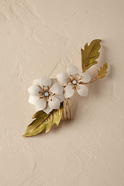 Twin Blossom Hair Comb
