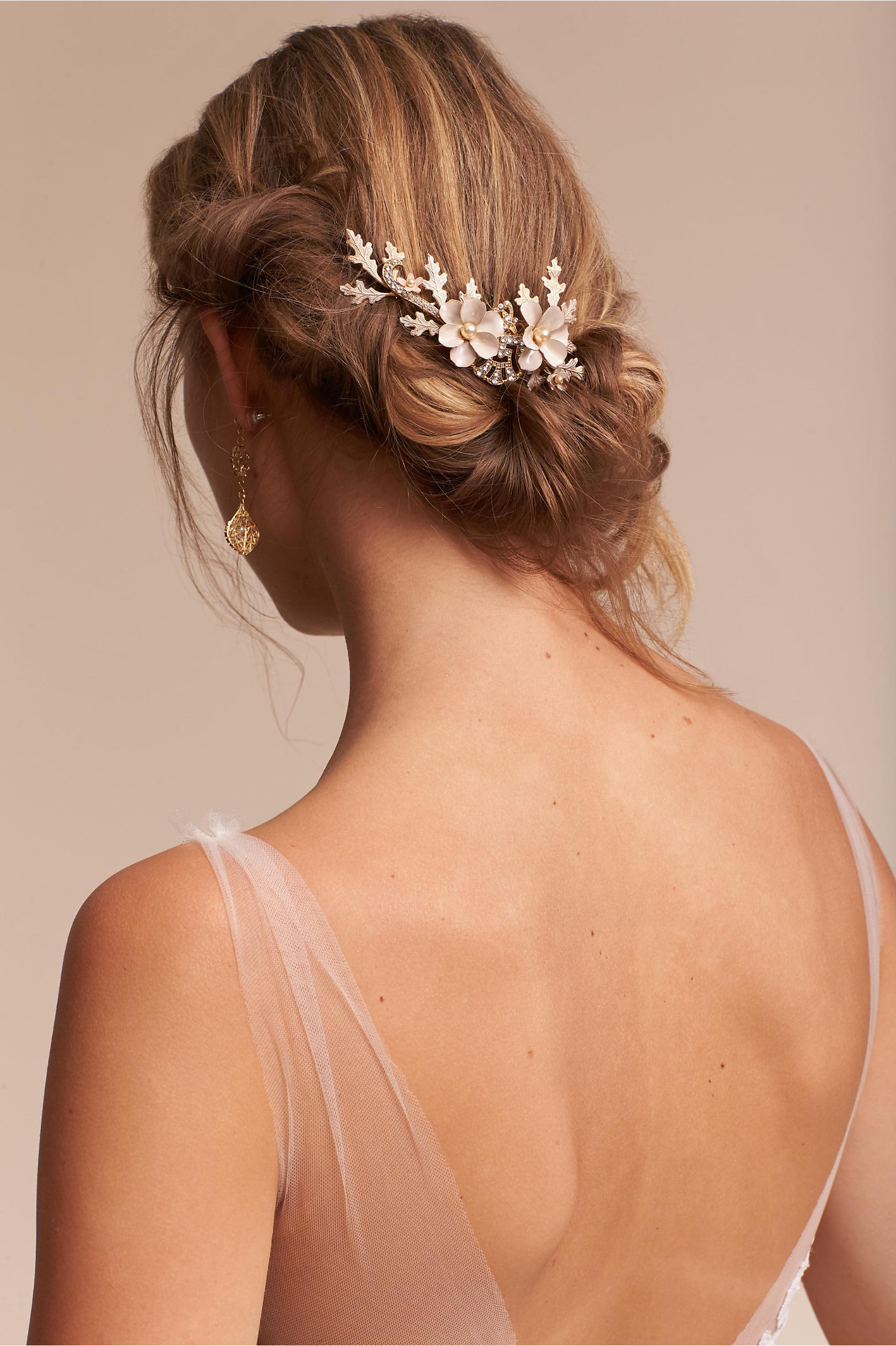 bridal hair combs, hair pins & hair clips | bhldn