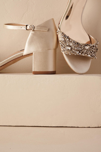 Badgley Mischka Ivory Mareva Block Heels | BHLDN