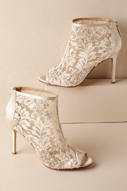 Badgley Mischka Ivory Moyra Booties | BHLDN