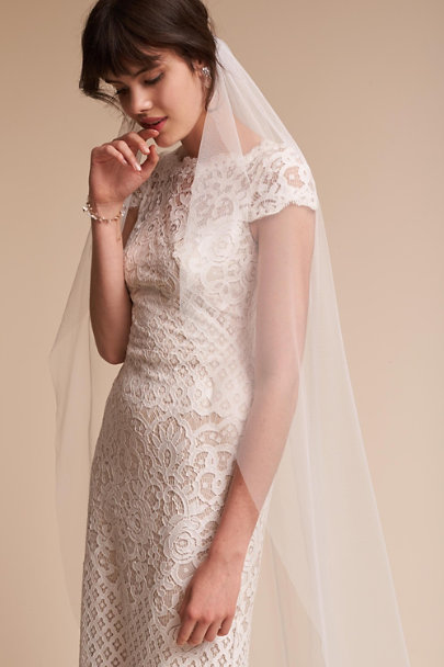 Paris by Debra Moreland Ivory Shadow Light Veil | BHLDN