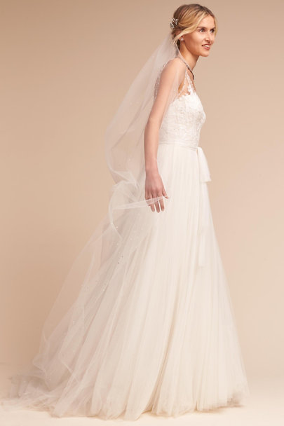 Paris by Debra Moreland Ivory Galaxy Veil | BHLDN