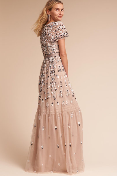 Needle & Thread Champagne Everley Gown | BHLDN