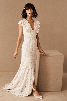 Long sleeve wedding dresses long cap sleeve bhldn placid gown placid gown junglespirit Choice Image
