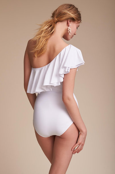 So De Mel White Bilbao One-Piece Swimsuit | BHLDN