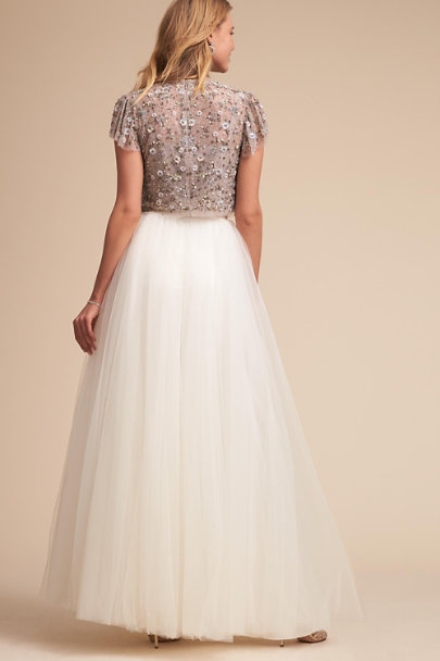 Needle & Thread Dove Comet Top | BHLDN