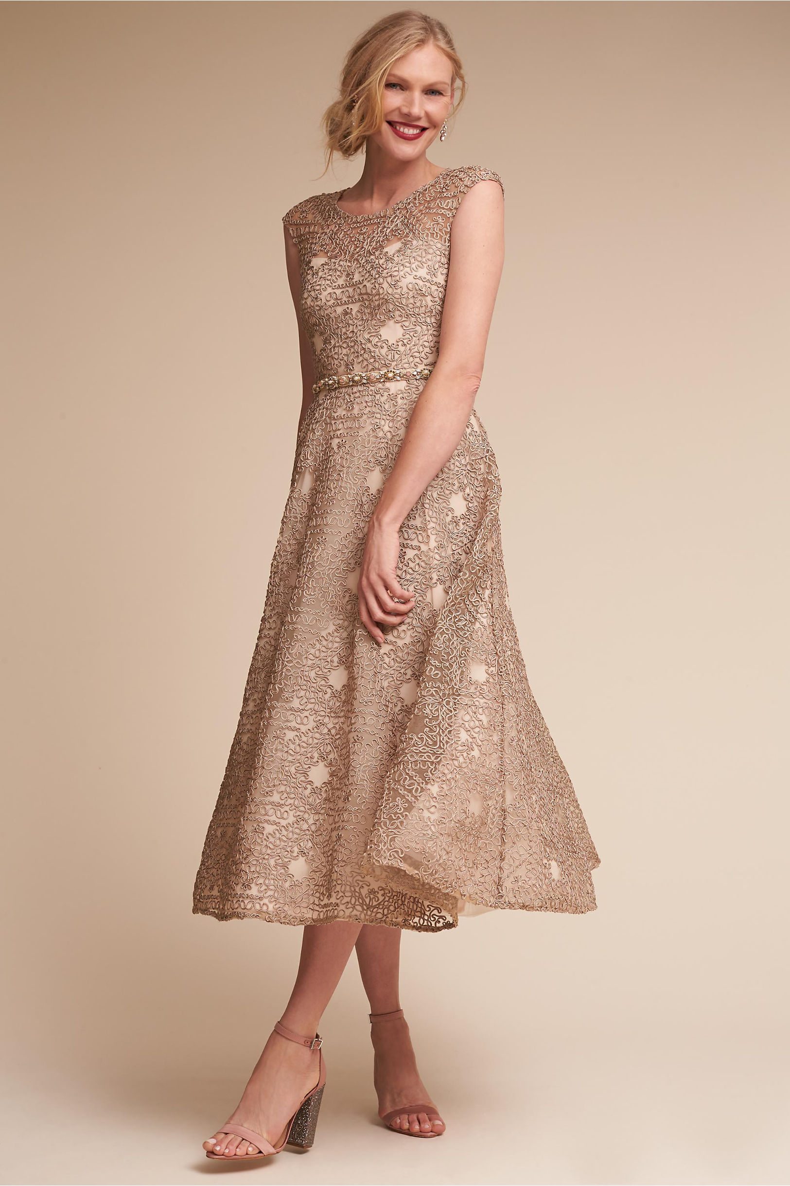 Presley Dress Champagne in Bridesmaids & Bridal Party | BHLDN