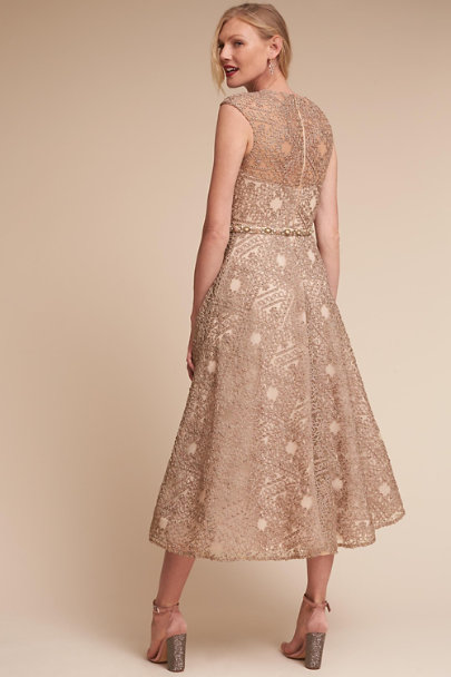 Sara Emanuel Champagne Presley Dress | BHLDN
