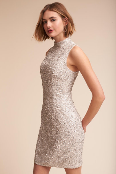 Aidan Mattox Silver Embassy Dress  | BHLDN