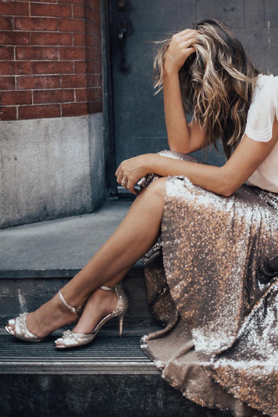 Gold Brinley Heels  | BHLDN