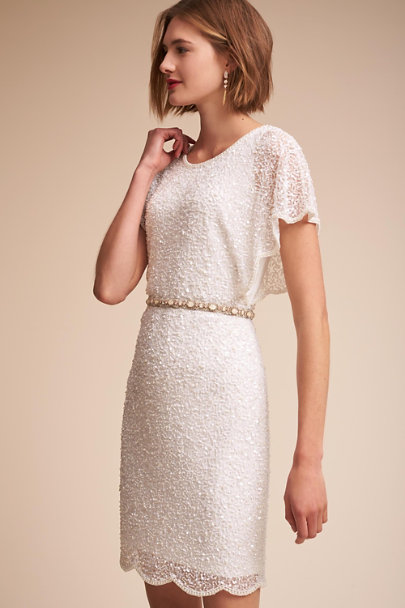 Adrianna Papell Ivory Elin Dress | BHLDN