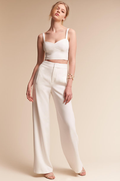 Black Halo Ivory Kalem Two-Piece Jumpsuit | BHLDN