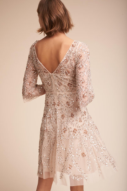Aidan Mattox Champagne Sun Valley Dress | BHLDN