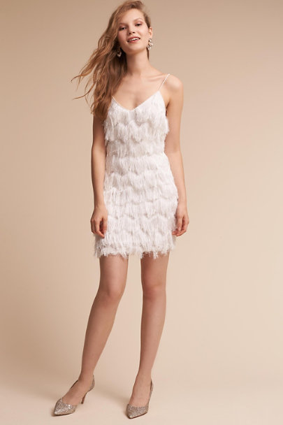 Talulah Ivory Brim Dress | BHLDN