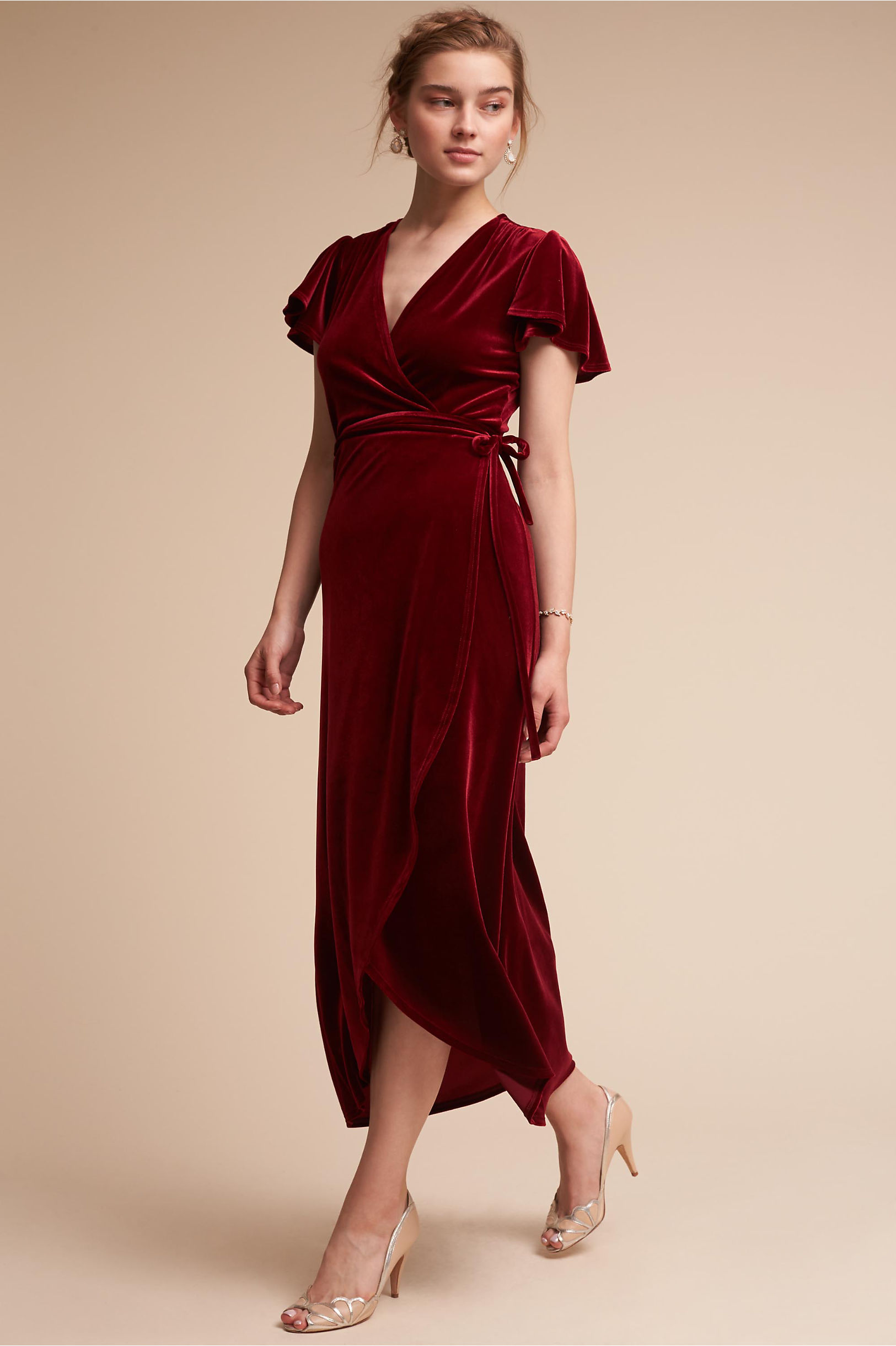 Thrive Dress Wine in Bridal Party | BHLDN
