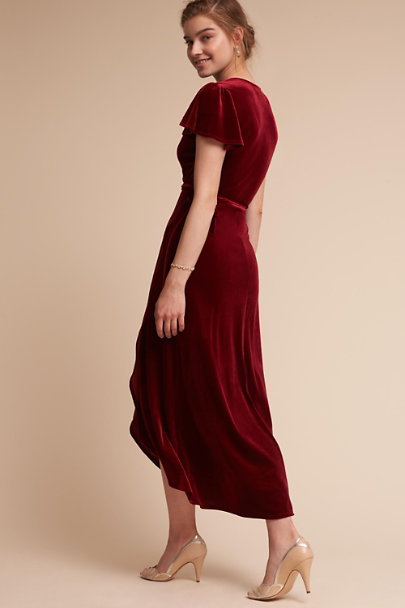 BHLDN Wine Thrive Velvet Dress | BHLDN