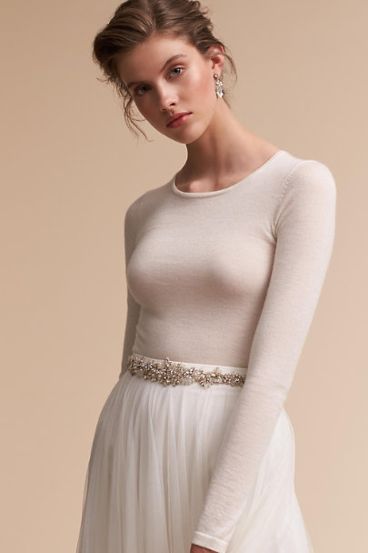 Claret Showroom Ivory Marino Bodysuit | BHLDN